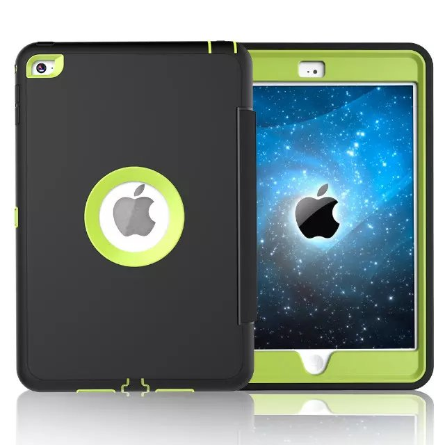 For Apple iPad mini 4 Case Cover Retina Kids Safe Armor Shockproof Heavy Duty Silicone Hard Case 3 PCS Free Gifts (11)