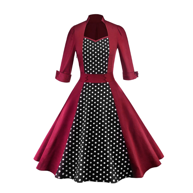 4 Lady's Fixed-color Thread-wrapped Hip Hollow Splice Dress LSY226