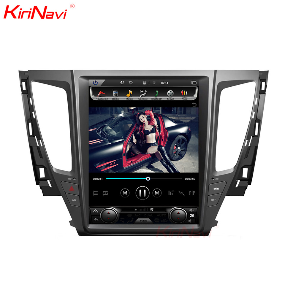 KiriNavi Android 7.1 Rádio Car Multimedia Player Para Pajero Sport Android Car Audio Navegação Gps player de vídeo do carro 2016 + WI-FI