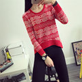 New 2016 Autumn Winter Sweater Women Clothing Fashion Thick Warm Floral Loose Long Sleeve Knitted Sweater And Pullovers