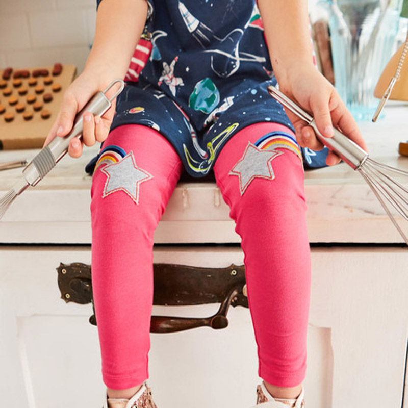 Girls Leggings Animals Appliqued Kids Pants for Girls Pants Kids Leggings Cotton Girls Pants with Patterns Children Trousers