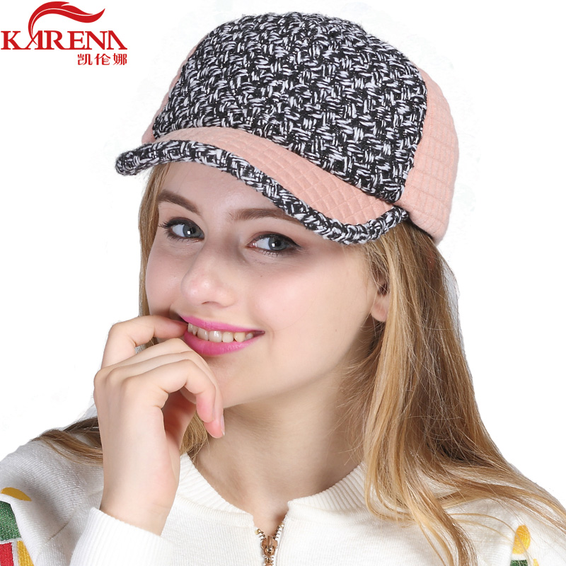 Women Baseball Cap Patchwork Plaid Pattern Size Adjustable Knitted Casual  Hat Multicolor Baseball Hat Wholesale Price KN 0363-in Baseball Caps from  Apparel ... cb83242293d