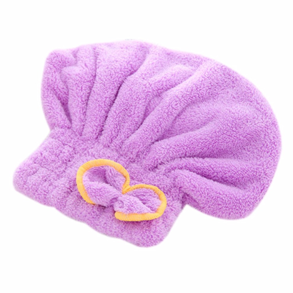 Quick-drying Hair Drying Hat Head Wrap Cap Bathing Super Absorbent Soft Velvet Shower Cap For Adults Woman Bathroom Supplies