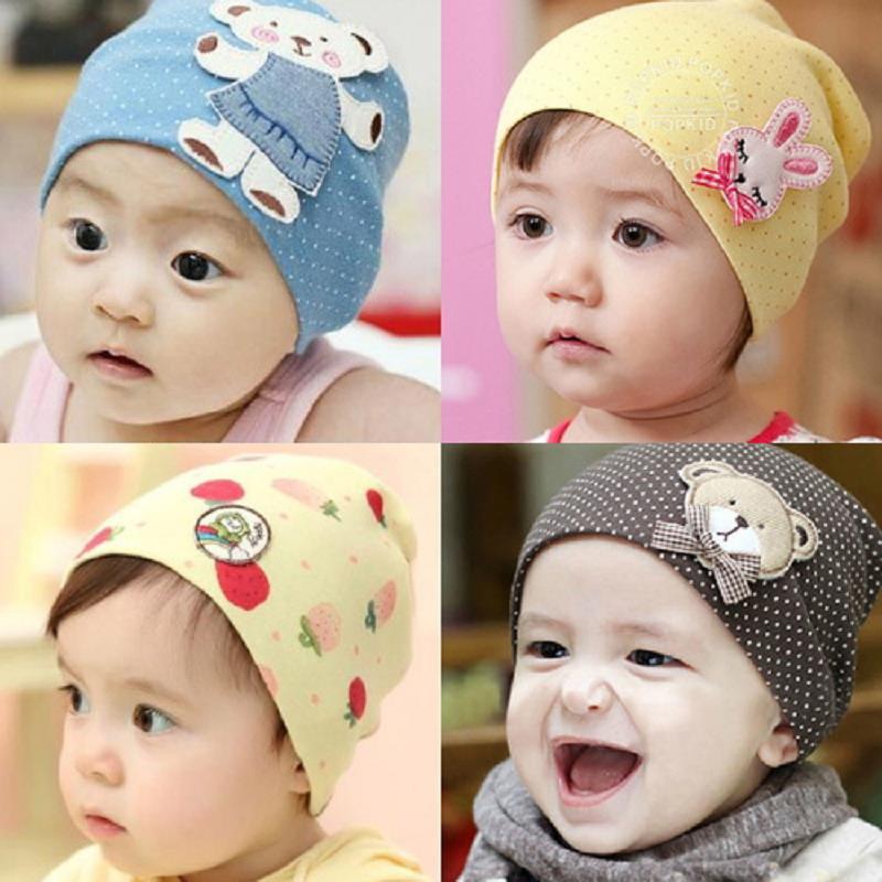 1Pcs Baby Hat Newborn Boy Girl Bonnet Accessories Pure Cotton Winter Bone Kids Cap Stuff Newborn Photography Props
