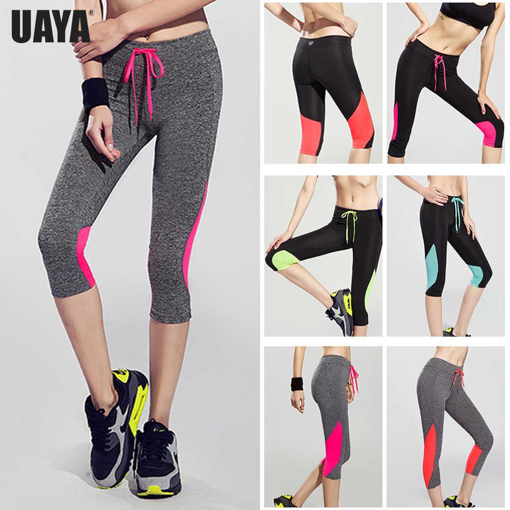 f9d1c5dccf94b UAYA 2019 Sport Pants Compression Tights Female Slim Sports Clothing Women  Yoga Pants Leggings Fitness Yoga