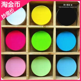 Free shipping/dia.100x50H mm round tin box/20pcs/lot /Colorful candy solid color round tin box tin can