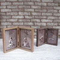 Frame de Retrato de Madeira Estilo moderno Casa Cinderalla Série 2 Caixas De Madeira Molduras Molduras De Casamento de Ano Novo Decoração Presentes