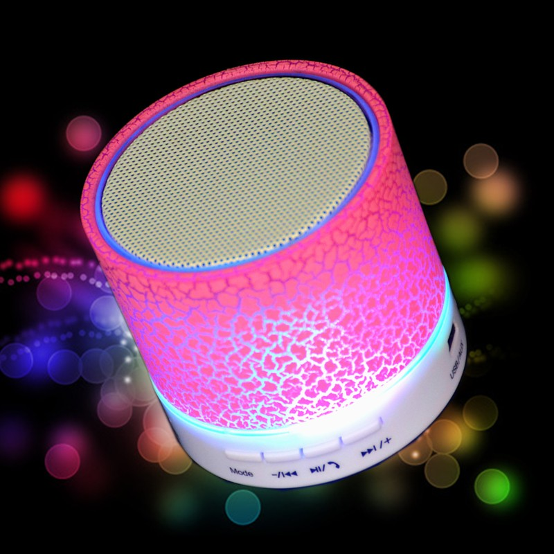 M&J A9 Portable Mini LED Bluetooth Speakers Wireless Small Music Audio TF USB FM Light Stereo Sound Speaker For Phone With Mic 3