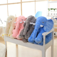 5 Color Big Size Baby Crib Elephant Plush Toy Stuffed Elephant Pillow Newborn Cushion Doll Bedding