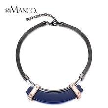 Emanco tres colores geométrica acrílico gargantilla collar cadena serpiente aleación declaración collares para mujeres conciso cuello creativo