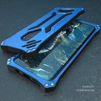 קייס מתכת אלומיניום יוקרה סמסונג S9 מקרה שריון S9Plus Dropproof מסגרת רכה סיליקון כיסוי לסמסונג גלקסי S9 בתוספת פגז