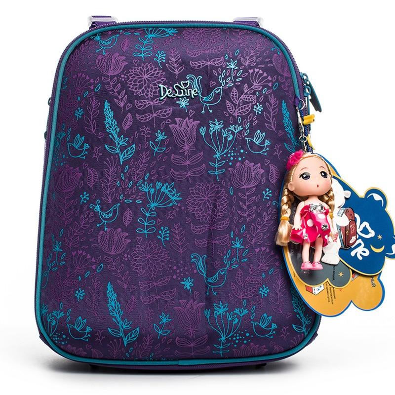 Delune 2019 New European Children School Bags For Girls Boys Backpack Cartoon Mochila Infantil Orthopedic Schoolbag Grade 1-4