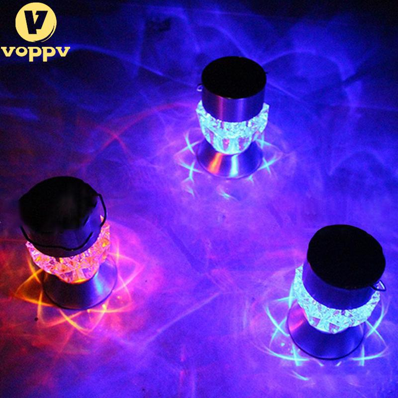 VOPPV Home Garden Solar Light Bulb Waterproof Solar Rotatable Outdoor Garden Camping Hanging LED Light Diamond Lamp 7 Colors
