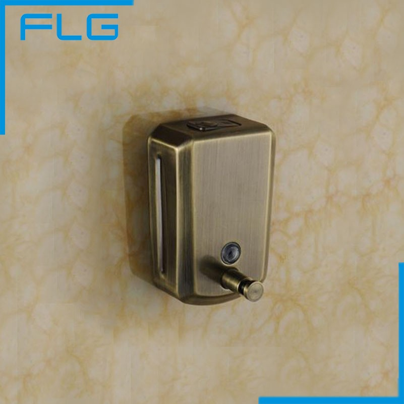 Antique Bronze 800ML Stainless Steel Bathroom Manual Liquid Soap Dispenser  Shampoo Boxes Wall Mounted(China
