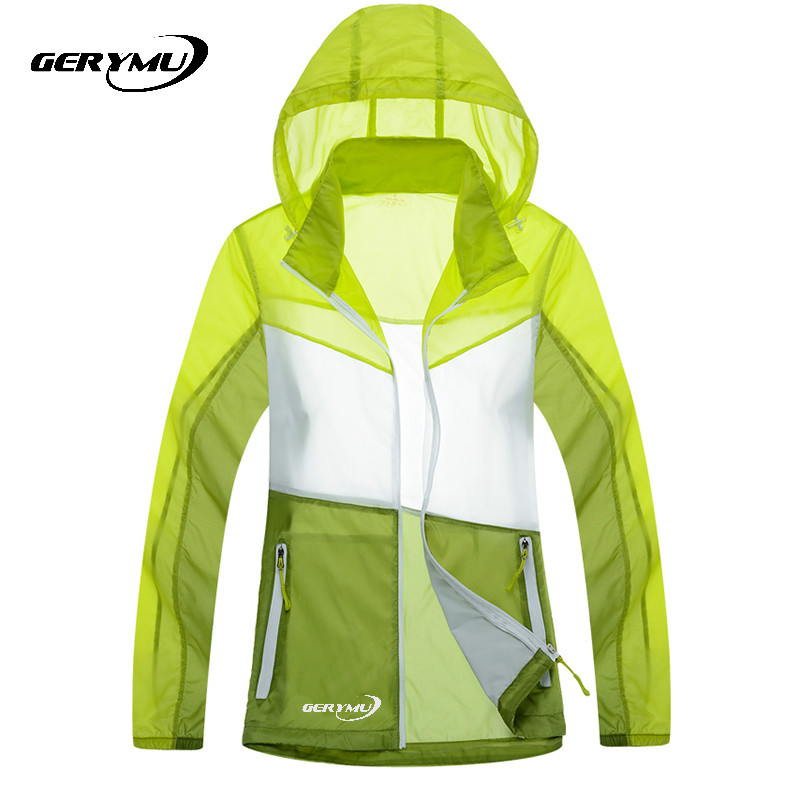 2016 Women Outdoor Quick Dry Waterproof Skin rain Jacket Anti Uv Sunscreen Hunting Climbing Camping coat