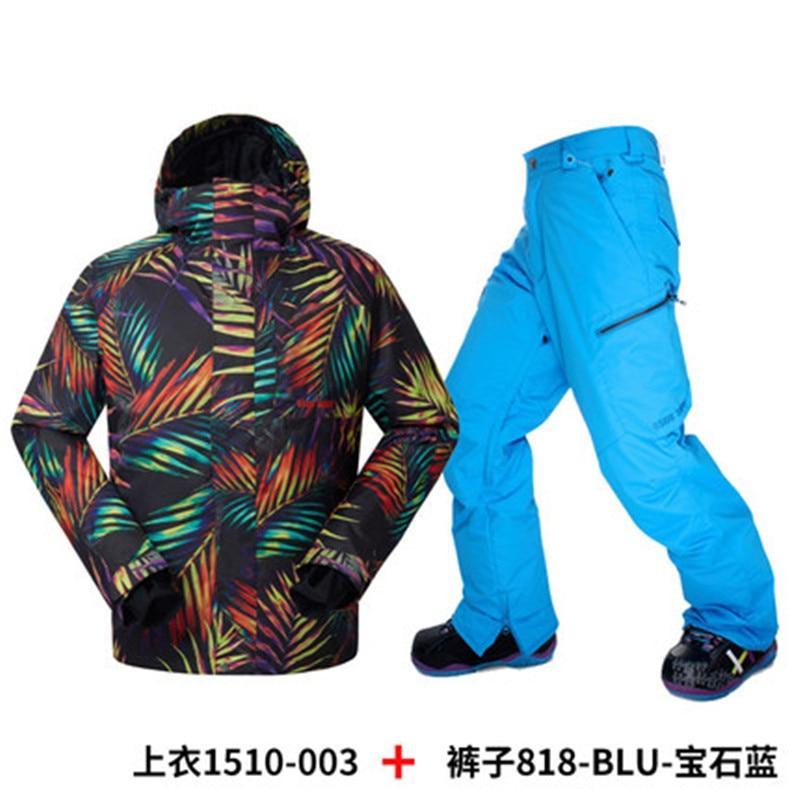 Marca trajes de esquí de los hombres chaqueta de esquí Gsou Nieve de hojas de co