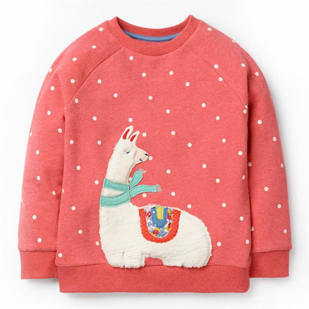 купить Littlemandy Girls Sweater Alpaca Baby Girls shirt Kids Long Sleeve Tops Cotton 2018 Brand Winter Girls Clothing по цене 546.7 рублей