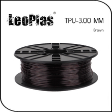 Worldwide Fast Delivery Manufacturer 3D Printer Material 1kg 2.2lb Soft 3mm Flexible Brown TPU Filament