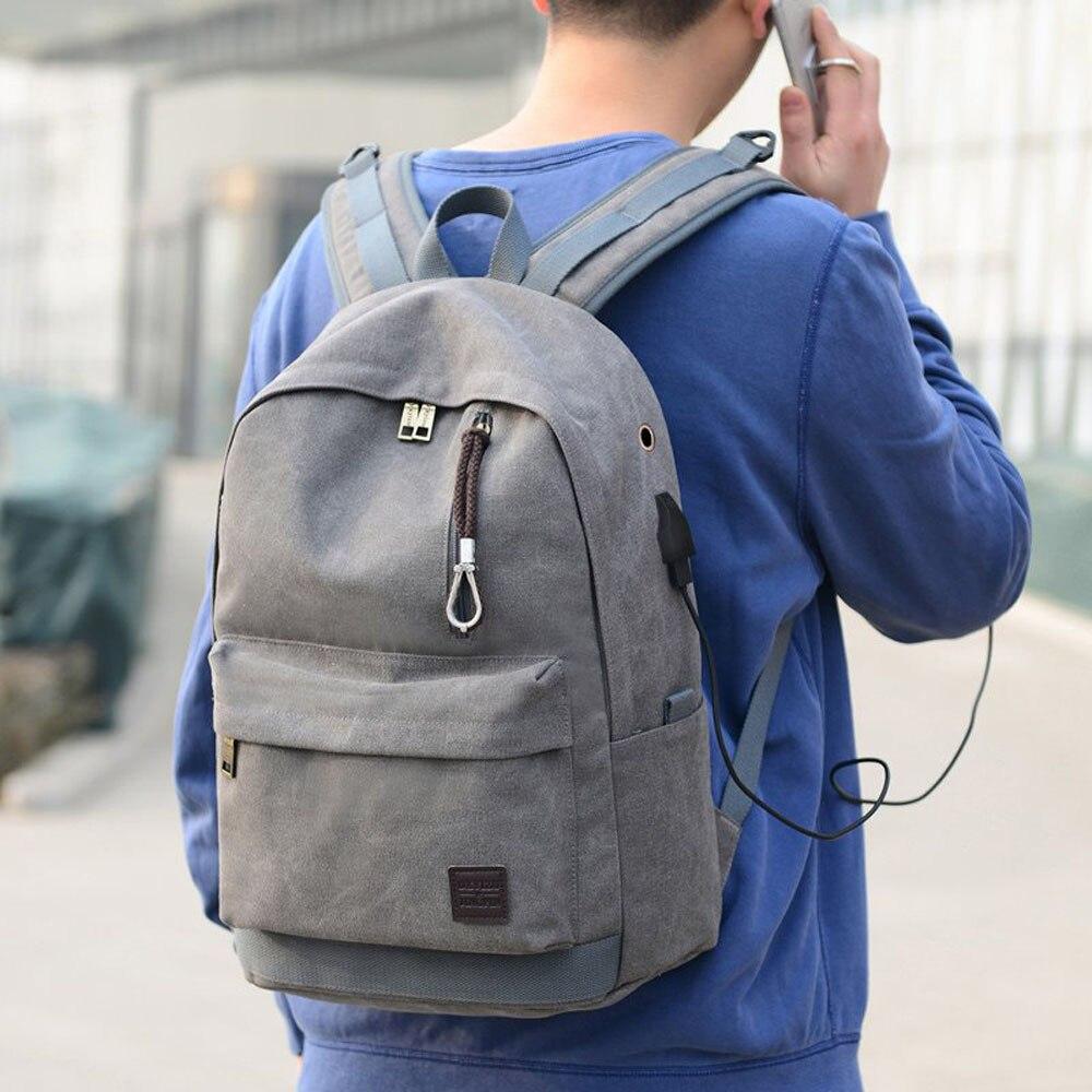 Wash Canvas Backpack Retro Student Back Pack Travel Simple Art Laptop Bag Girl Boys School Bags Couple Bagpack
