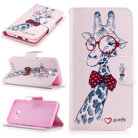 For 2017 Galaxy J5 Case Colorful Flowers Tree Bear Pattern Wallet Leather Stand Cover For Samsung Galaxy J5 2017