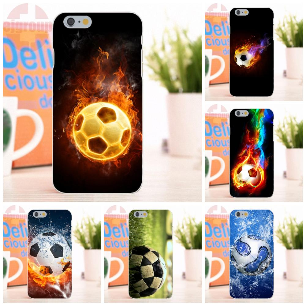 EJGROUP soccer ball Soft Silicone TPU Transparent Custom Phone For Apple iPhone 4 4S 5 5S 5C SE 6 6S 7 8 X Plus