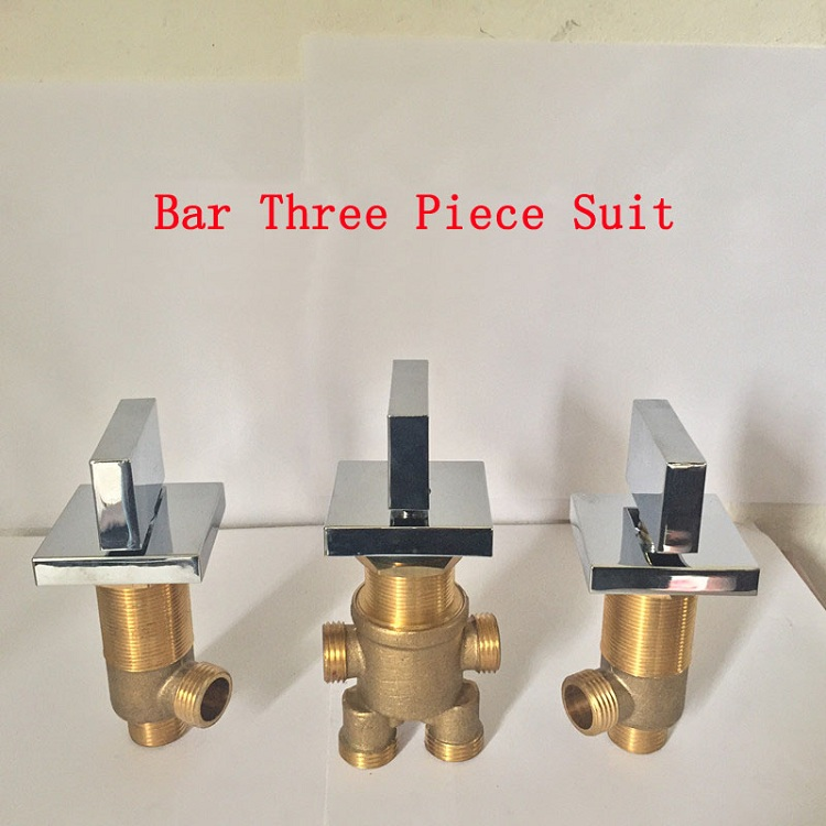 Bar shower room mixing valve chrome plated, Cold and hot water master switch/separator, Brass bathroom bathtub faucet mixer