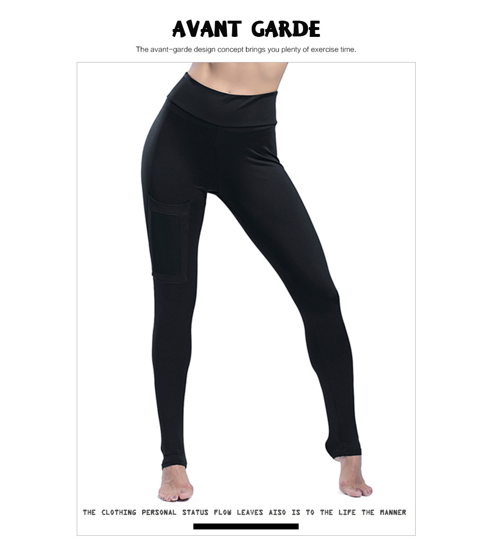 98c8aff49b Over The Heel Yoga Pants Women High Waist Elastic Yoga Leggings for Fitness  Push Up Running Tights Sportswear Woman Gym