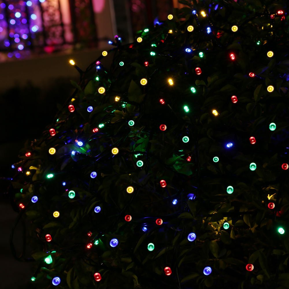 aliexpresscom buy qedertek led string light 100 led solar fairy lighting waterproof holiday christmas indooroutdoor party solar garden lights from