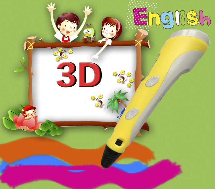 ФОТО Children's Gift 3D Drawing Pen Kinds Educational Toys Stereoscopic 3D Printing Pen Rechargeable Battery 3D Pen Graffiti Pen