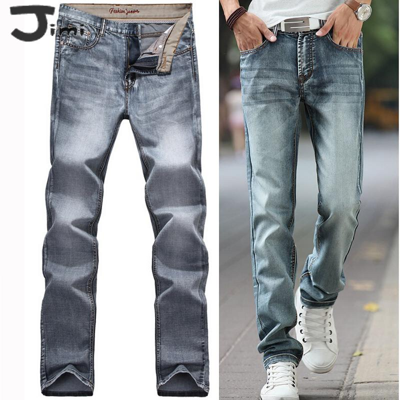 jeans 2017 vintage jeans men autumn winter washed grey classic new for fall/winter men's jeans size 28 - 38