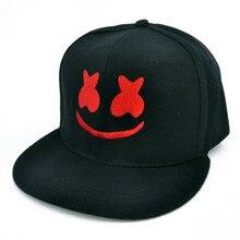 b709251cb875b Marshmello DJ ROCK cap Funny Embroidery baseball caps Pure cotton caps  Adjustable snapback hats for women