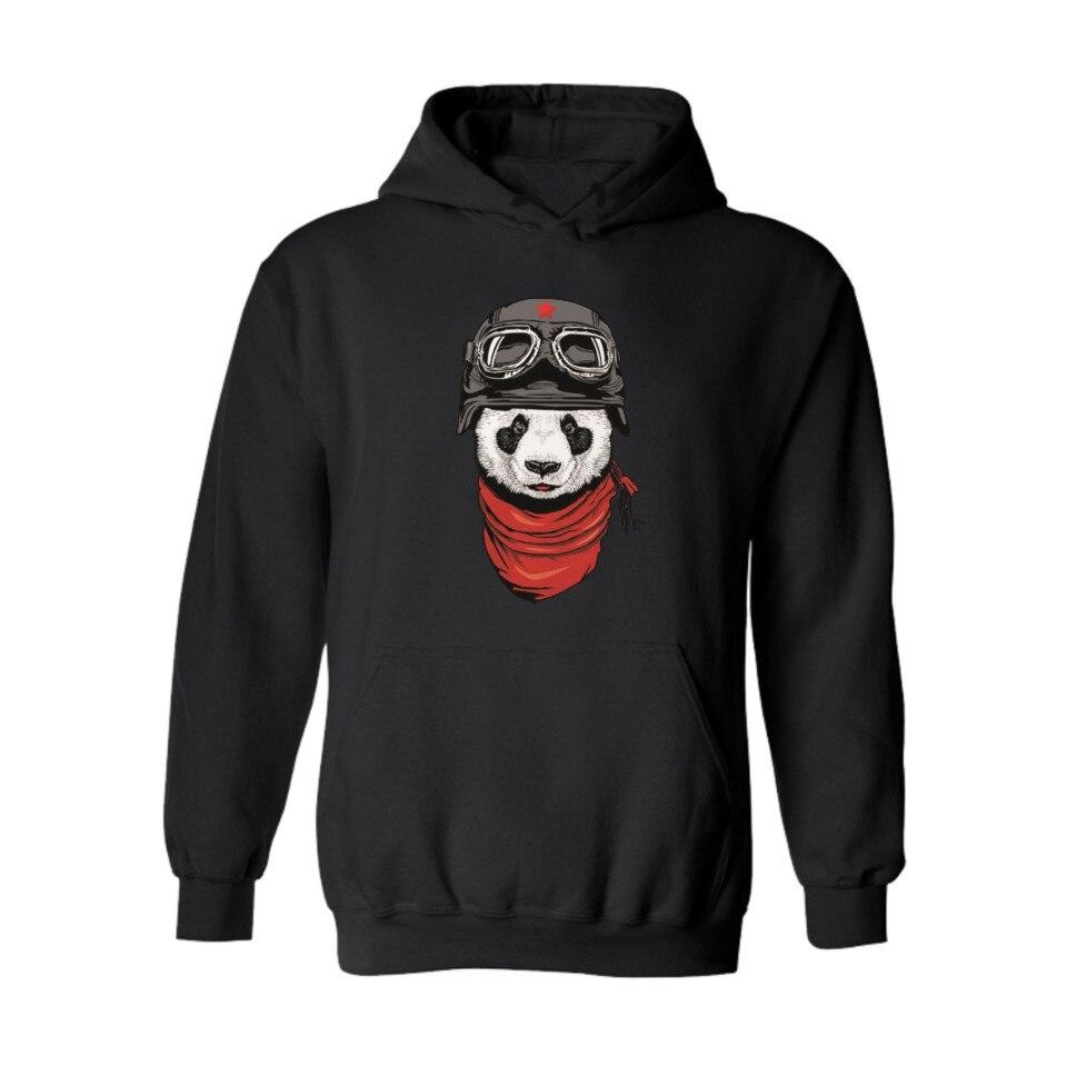 Funny Panda Hoodies Hooded Women Hoodies Pullover Sweatshirt Autumn Black Sweatshirt Men Hip Hop Fashion High Quality Clothes