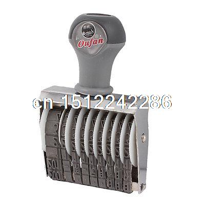 Date Design 0-9 Arabic Numerals Rolling Stamp Numbering Machine Gray
