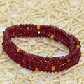 4 rows multilayer long bracelets for women 2*4mm red jade jasper abacus faceted magnetic clasps elegant gifts diy jewelry B2768