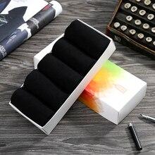 Emilback Luxury 5 PRS Lot Black Business Dress Tencel Modal socks for Men Women Top Quality