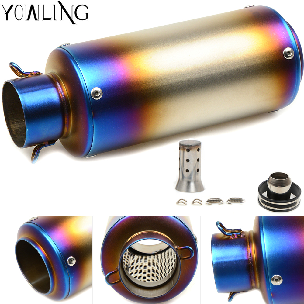 Motorcycle Muffler Exhaust Pipe Scooter exhaust for yamaha YZF R125 R15 R25 r 125 15 25 mt-07 mt 07 09 MT-09 FZ07 FZ09 MT-03