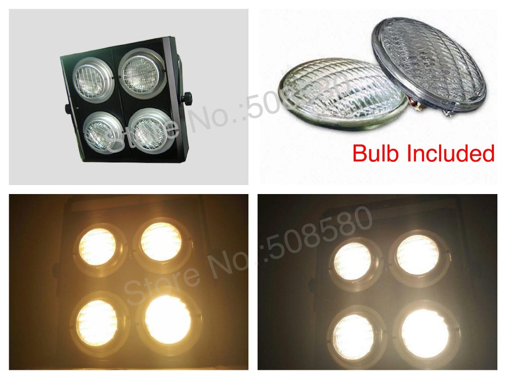 2pcs / Lot, Luz de audiencia de cuatro ojos 4x650W = 2600W Luz de cegadora LED 4 ojos con 16 blubs incluidos dj disco club bar party stage