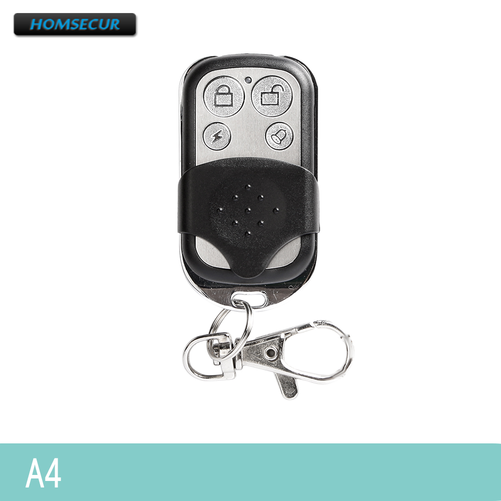 HOMSECUR 433MHz RF Remote Control Keyfob A4 For Our 433MHz Home Security Alarm System
