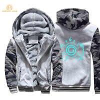 2019 heißer Winter Japan Anime Naruto Camouflage Hoodies Männer Warme Fleece männer Sweatshirts Harakuku Jacken Für Fans Marke Kleidung