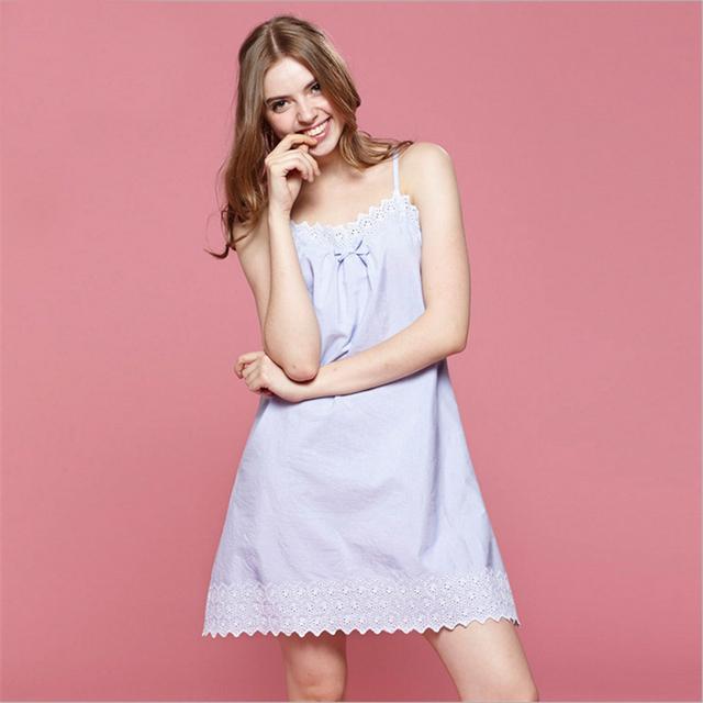 Verão nova Cinta de Espaguete mulheres camisola sem mangas colete Sexy sleepwear Lace Ruffles roupas Casa