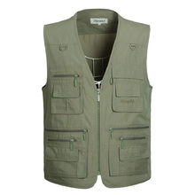 2019 New Large Size 5Xl Mens Army Casual Vests With Many Pockets Male Sleeveless Fashion Waistcoats Plus XL-5Xl