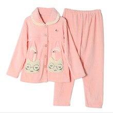 Зимняя модная одежда для нового месяца осенне-зимняя фланелевая одежда для грудного вскармливания толстые теплые пижамы для беременных женщин комплект