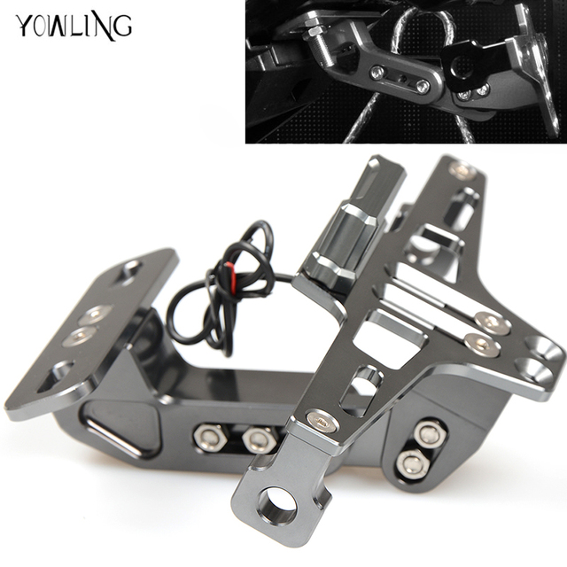 Motorcycle Aluminum License Plate Bracket Licence Plate Holder Frame ...