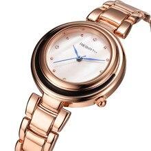 REBIRTH Steel Strap Kvinnor Klockor Casual Ladies Klockor Top Brand Luxury Gold Braceket Quartz Clock Classic Kvinnor Klockor 040
