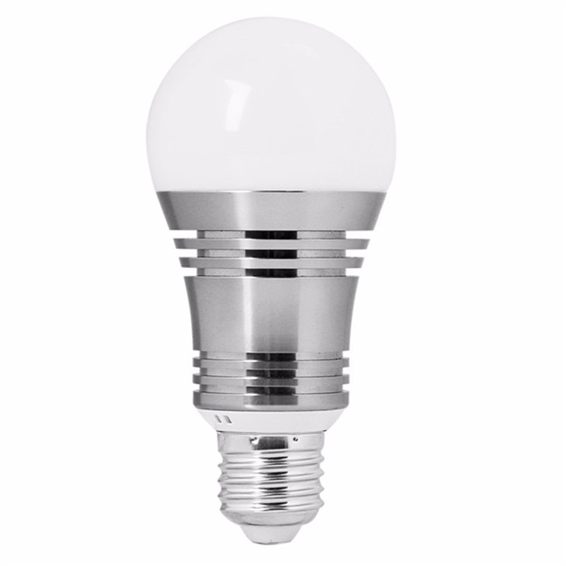 RGBW LED Light Bulb E27 6W Bluetooth4.0 WiFi Wireless Control Smart Music Audio App Lamp Bulb Spotlight Lighting AC85V-245V szyoumy e27 rgbw led light bulb bluetooth speaker 4 0 smart lighting lamp for home decoration lampada led music playing