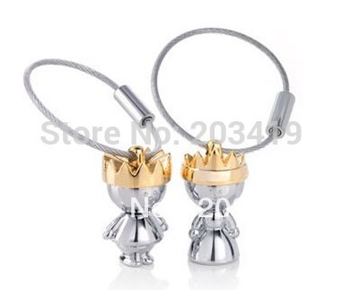 crown key ring Key Chain for Lover Couple Wedding gift CN post