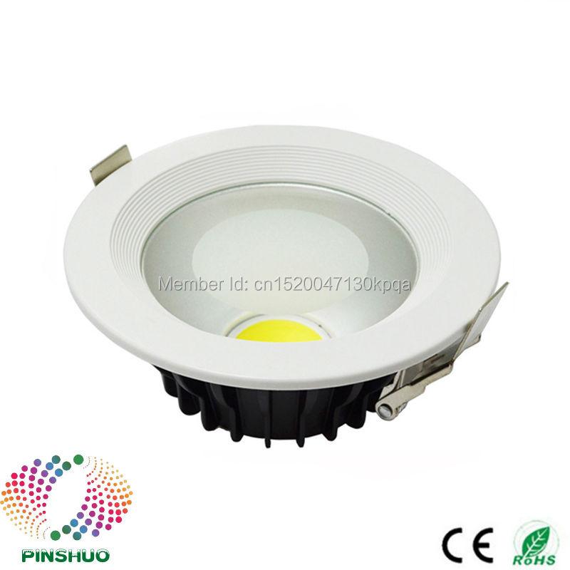 (60PCS / Lot) Garancija 3 leta 30W 20W 15W 12W 7W 5W LED navzdol luč COB LED svetilka zatemnitev stropna sijalka