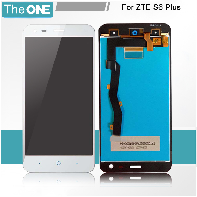 Подробнее о White Full LCD DIsplay + Touch Screen Digitizer Assembly Replacement For ZTE Blade S6 Plus / Blade S6+ LTE Free shipping white black for zte blade a610 td lte lcd display touch screen digitizer assembly replacement free shipping