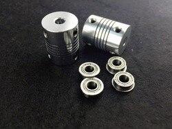 4x mf105zz bearing 2xcnc motor shaft coupler elastic aluminum alloy coupling for 3d printer prusa i3.jpg 250x250