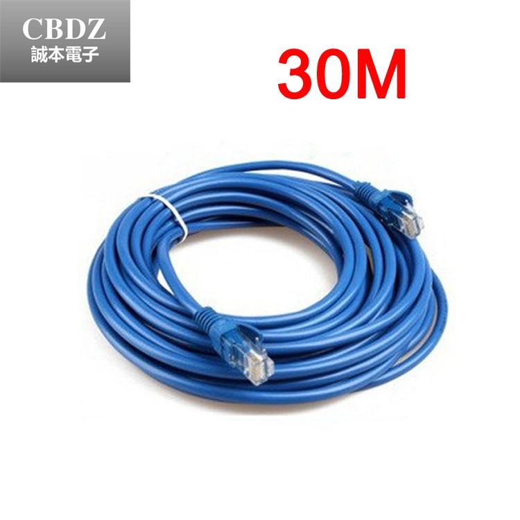 30 M RJ45 CAT5 CAT5E Ethernet réseau LAN réseau Net câble de travail M à M Patch LAN cordon livraison gratuite CBDZ